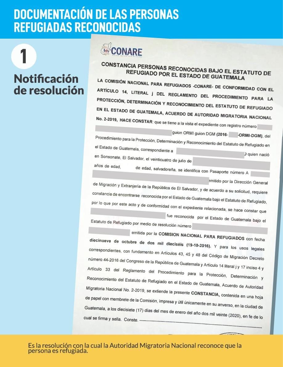 Notificación resolución Guatemala